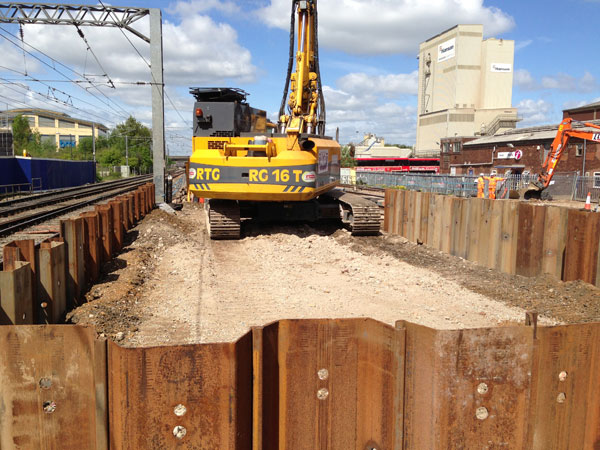 Cofferdams at Stockley Junction