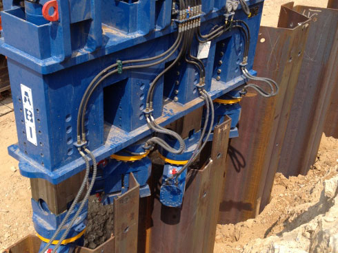 Silent and vibration free steel piling works