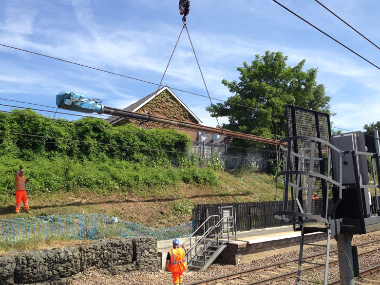 Piling installation works at West Hampstead Station
